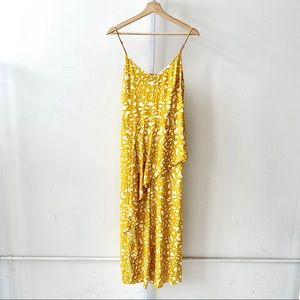 Maeve Brittany Jumpsuit Ruffled Wide Leg Yellow 8